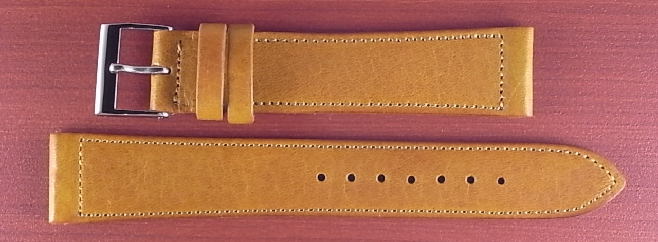 艶ありヌメ牛ステア 革ベルト ライトブラウン 16、17、18、19、20mm CC-038a