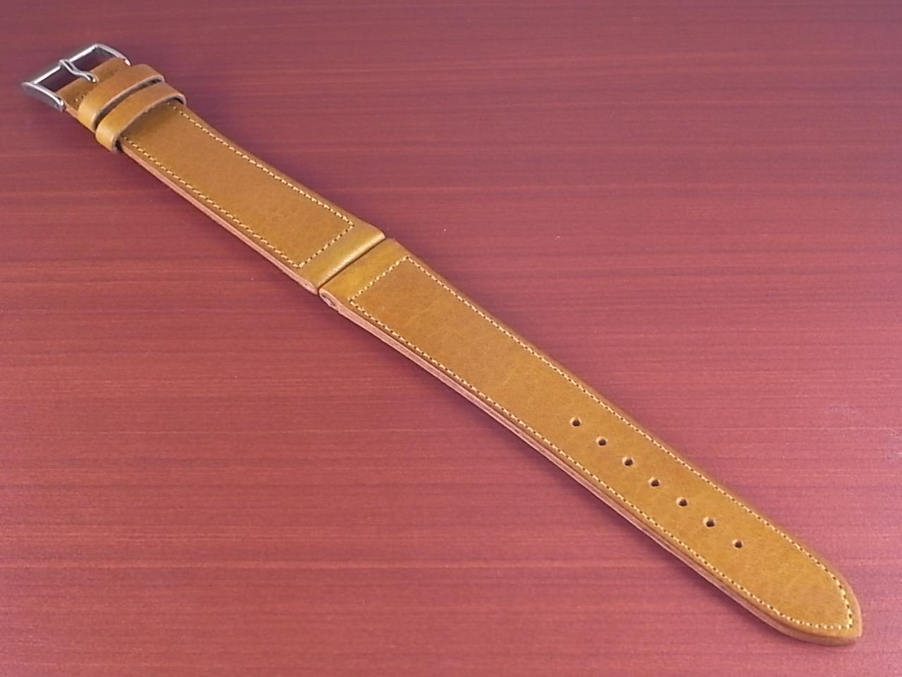 艶ありヌメ牛ステア 革ベルト ライトブラウン 16、17、18、19、20mm CC-038aのメイン写真