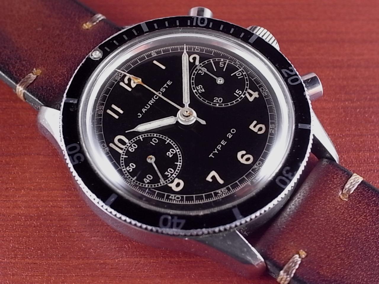 アウリコスト タイプ20 パイロットウォッチ フライバック クロノグラフ 1960年代のメイン写真