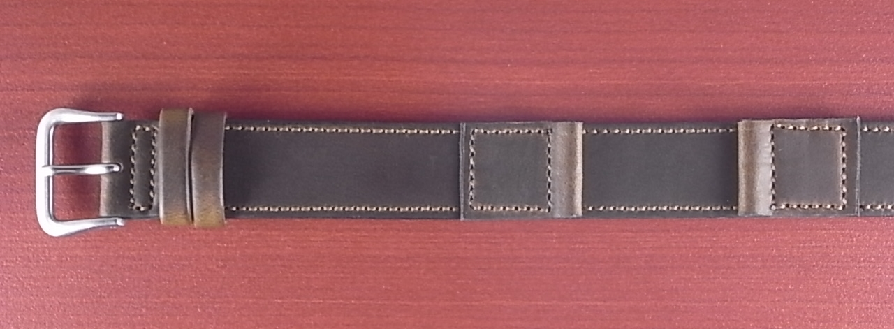 ホーウィン クロムエクセル 米軍タイプ革ベルト オリーブ 16mm