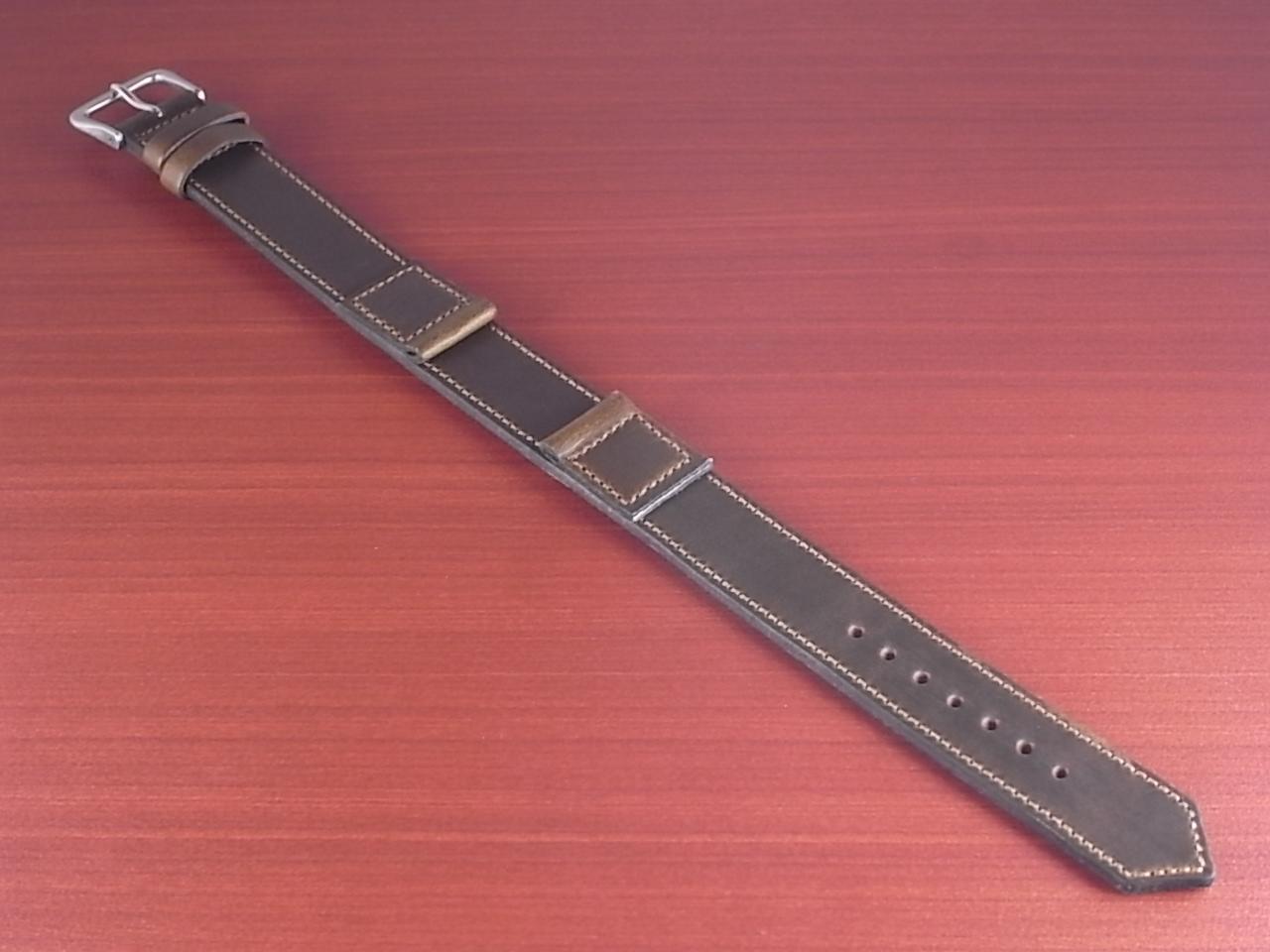 ホーウィン クロムエクセル 米軍タイプ革ベルト オリーブ 16mmのメイン写真