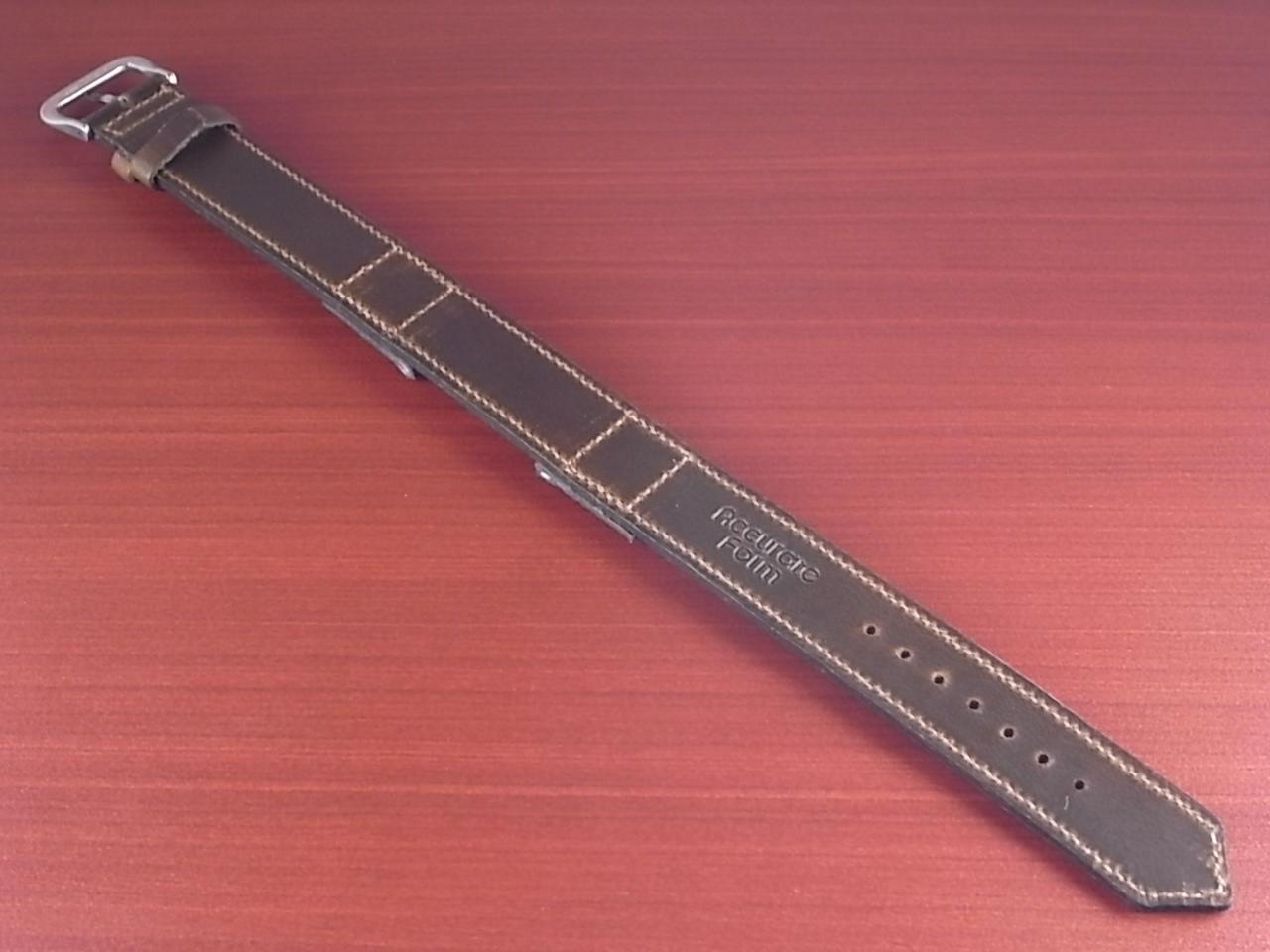 ホーウィン クロムエクセル 米軍タイプ革ベルト オリーブ 16mmの写真2枚目