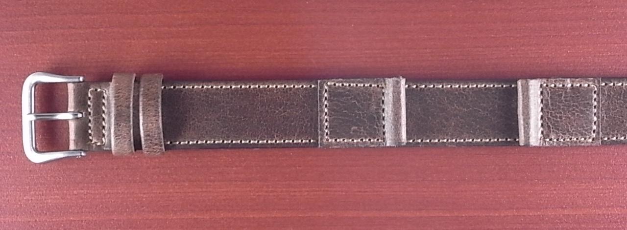 ホーウィン クロムエクセル 米軍タイプ革ベルト ナチュラル 16mm