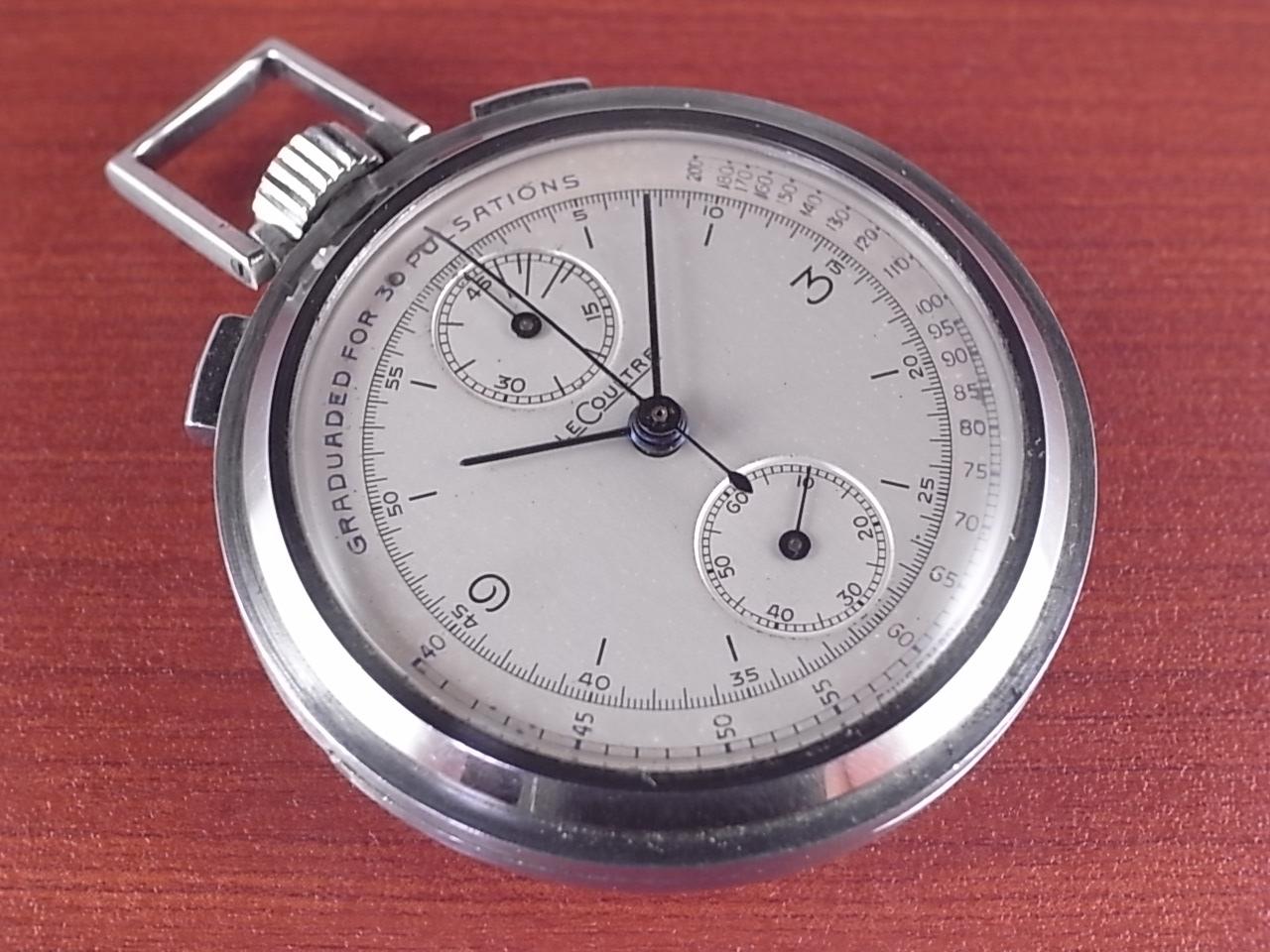 ルクルト ポケットウォッチ クロノグラフ Cal.ユニバーサル285 1940年代のメイン写真
