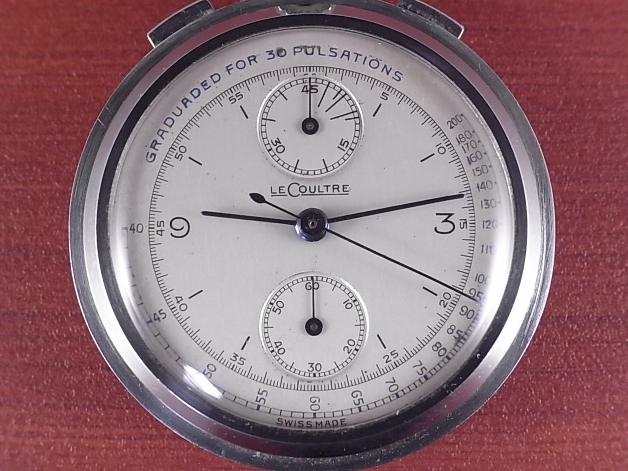 ルクルト ポケットウォッチ クロノグラフ Cal.ユニバーサル285 1940年代の写真2枚目