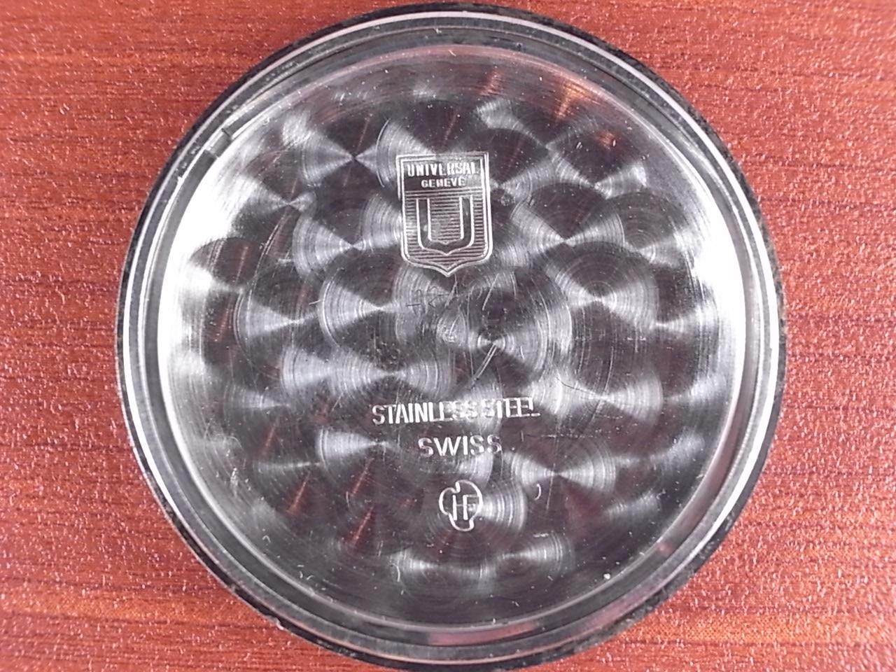 ユニバーサル トリコンパックス ブラックダイアル Ref.88110/02 1960年代の写真6枚目