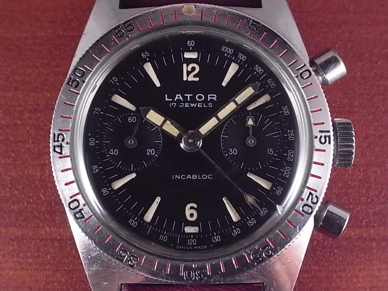 レイター ダイバーズクロノグラフ バルジュー92 1960年代の写真2枚目
