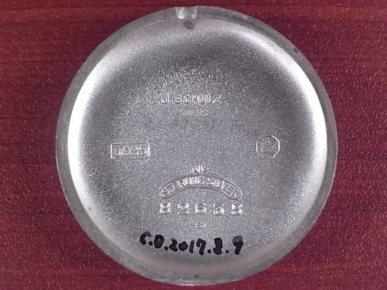 J.シュルツ シルバー925 ストップセコンド Cal.ヴィーナス103 1930年代の写真6枚目