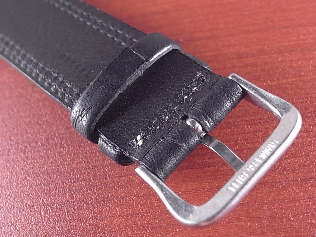 ホースハイド 革ベルト  Wステッチ ブラック 18、20mmの写真4枚目