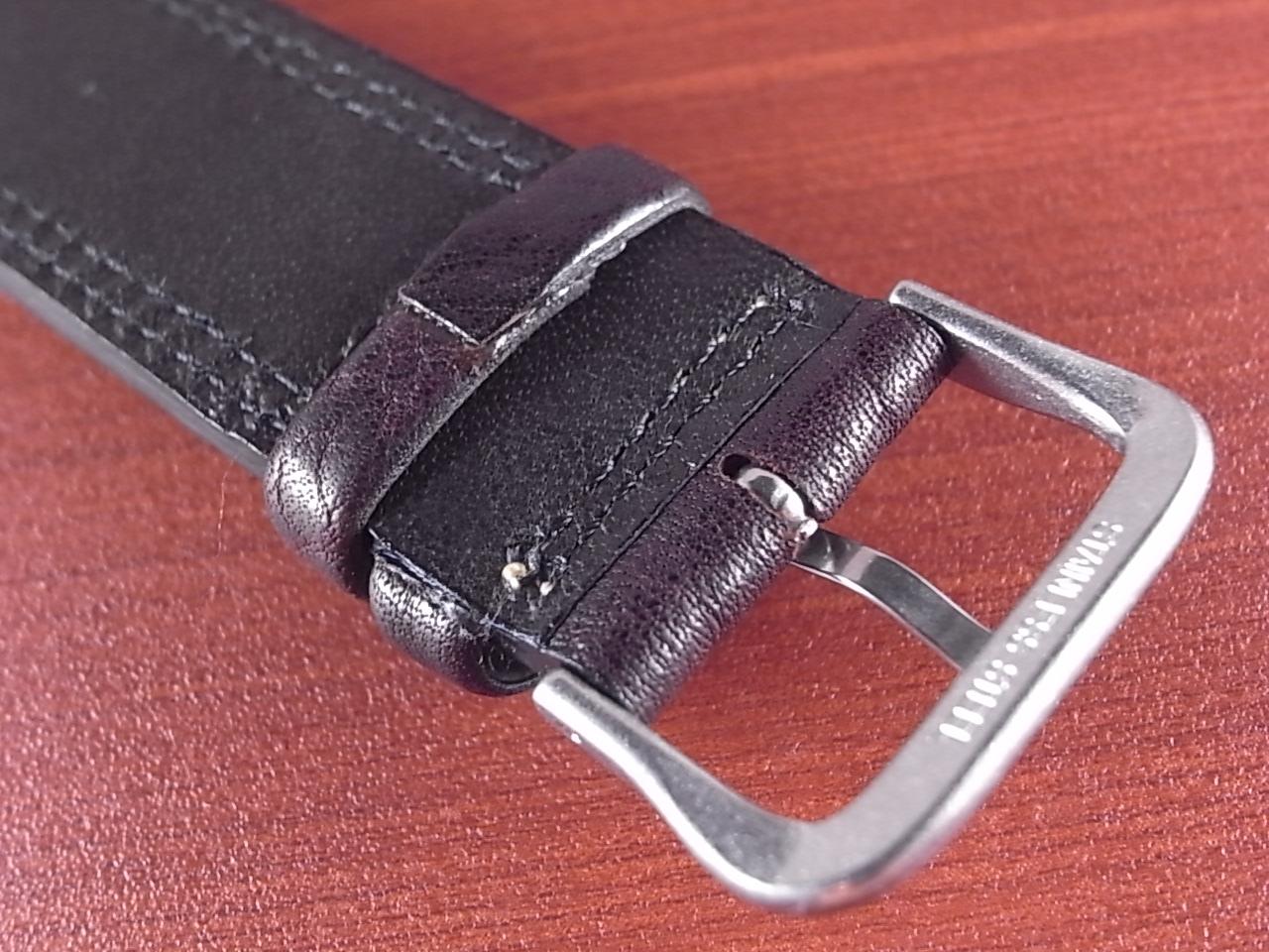 ホースハイド 革ベルト  Wステッチ ダークブラウン 18、20mmの写真4枚目