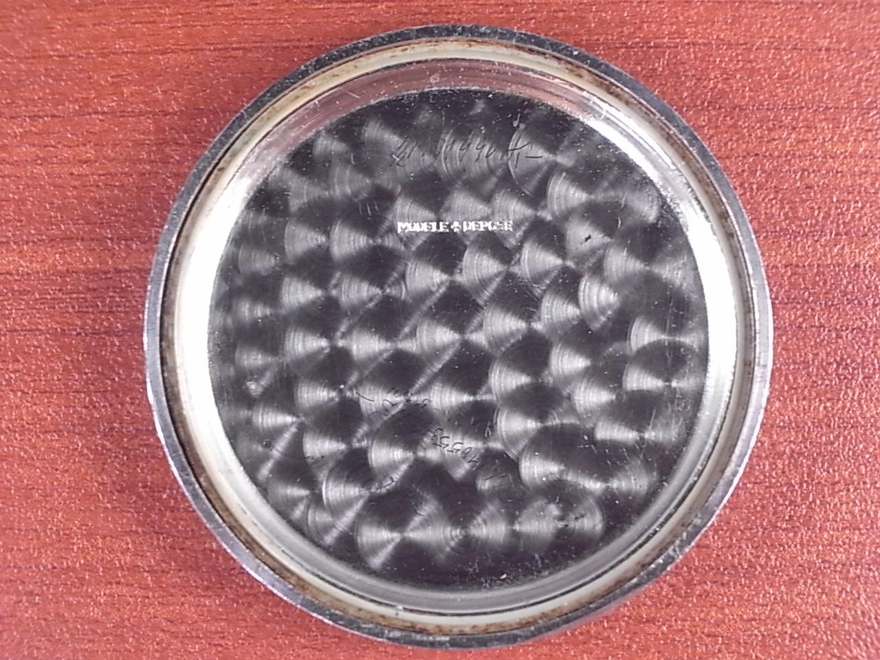 ミネルバ クロノグラフ Cal.20CH ブラックダイアル 初期型防水ケース 1940年代の写真6枚目