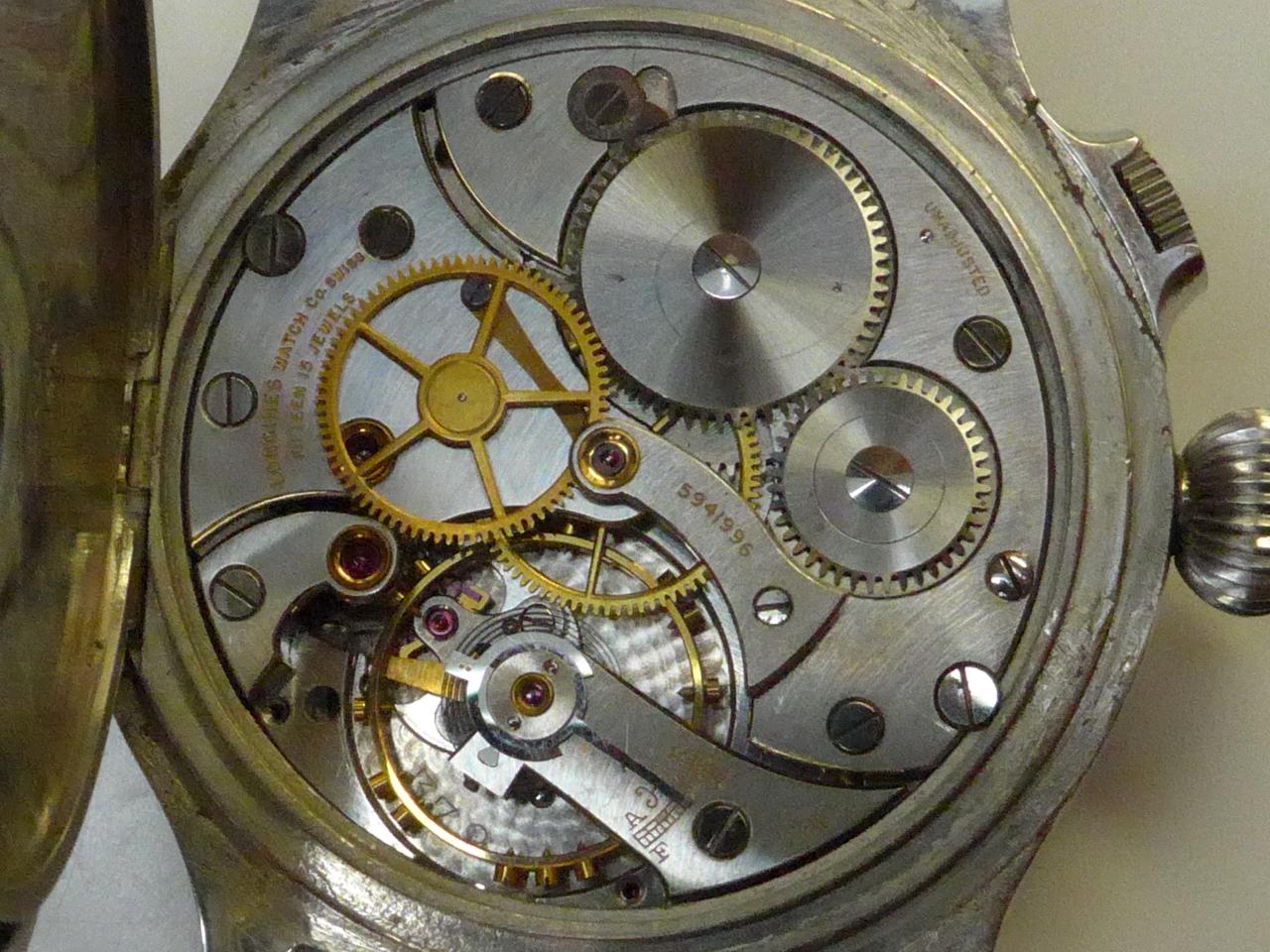 ロンジン=ウィットナー 旧日本海軍 ウィームス 天測時計 1930年代の写真5枚目