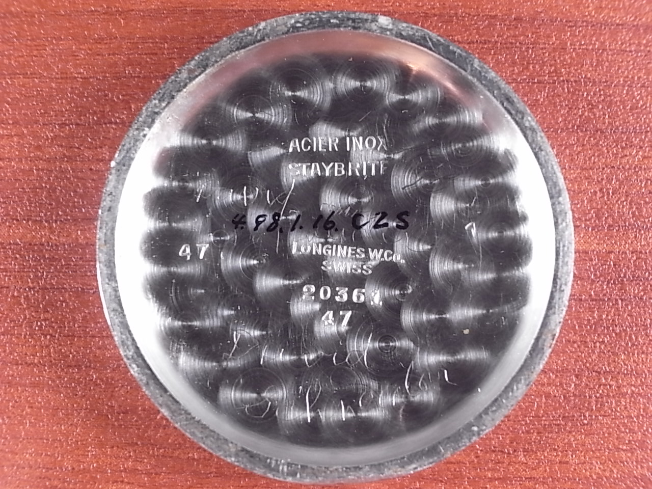 ロンジン ロータリングWベゼル ストップセコンド パイロットウォッチ 1930年代の写真6枚目