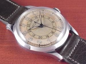 ルクルト ホワイト2トーンダイアル 24時間表記 スナップバック 1940年代