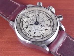 ノーブランド 縦目クロノグラフ ヴィーナス170 ホワイトダイアル 1940年代