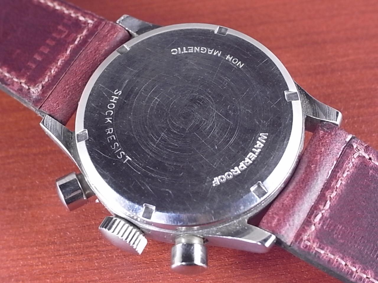 ノーブランド 縦目クロノグラフ ヴィーナス170 ホワイトダイアル 1940年代の写真4枚目