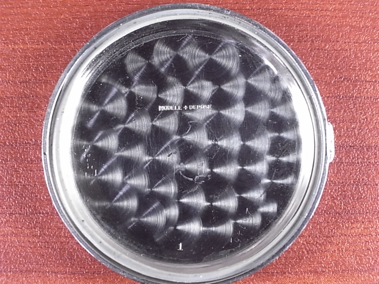 ノーブランド 縦目クロノグラフ ヴィーナス170 ブラックダイアル 1940年代の写真6枚目