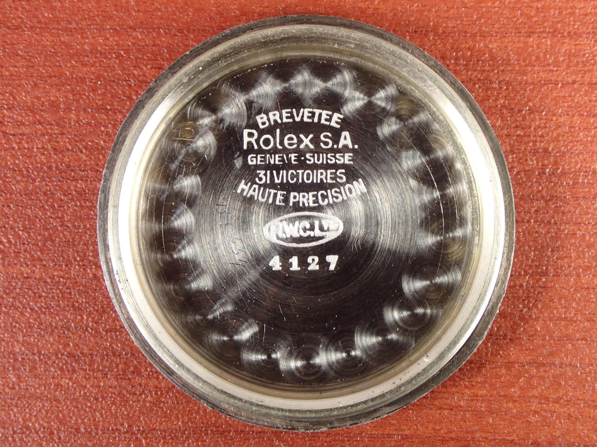 ロレックス オイスター アスリート Ref.4127 シンダーケース 1940年代の写真6枚目