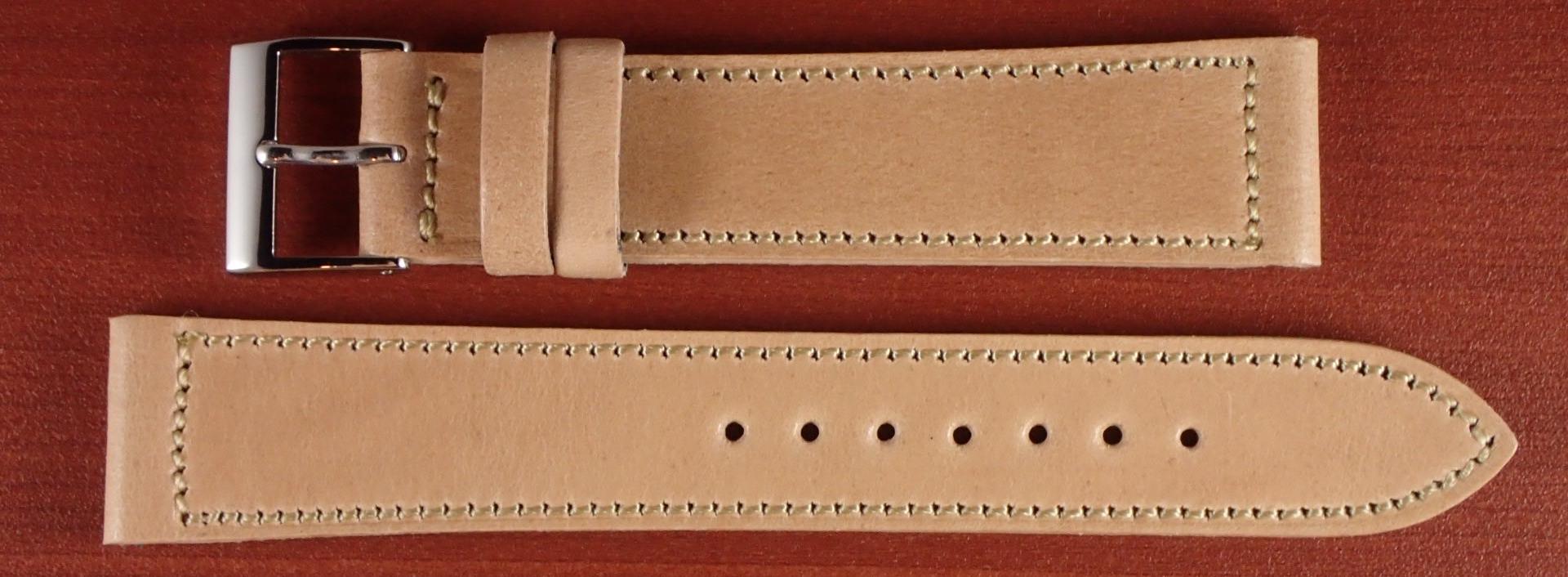 国産コードバン革ベルト ナチュラル 18、19、20mm