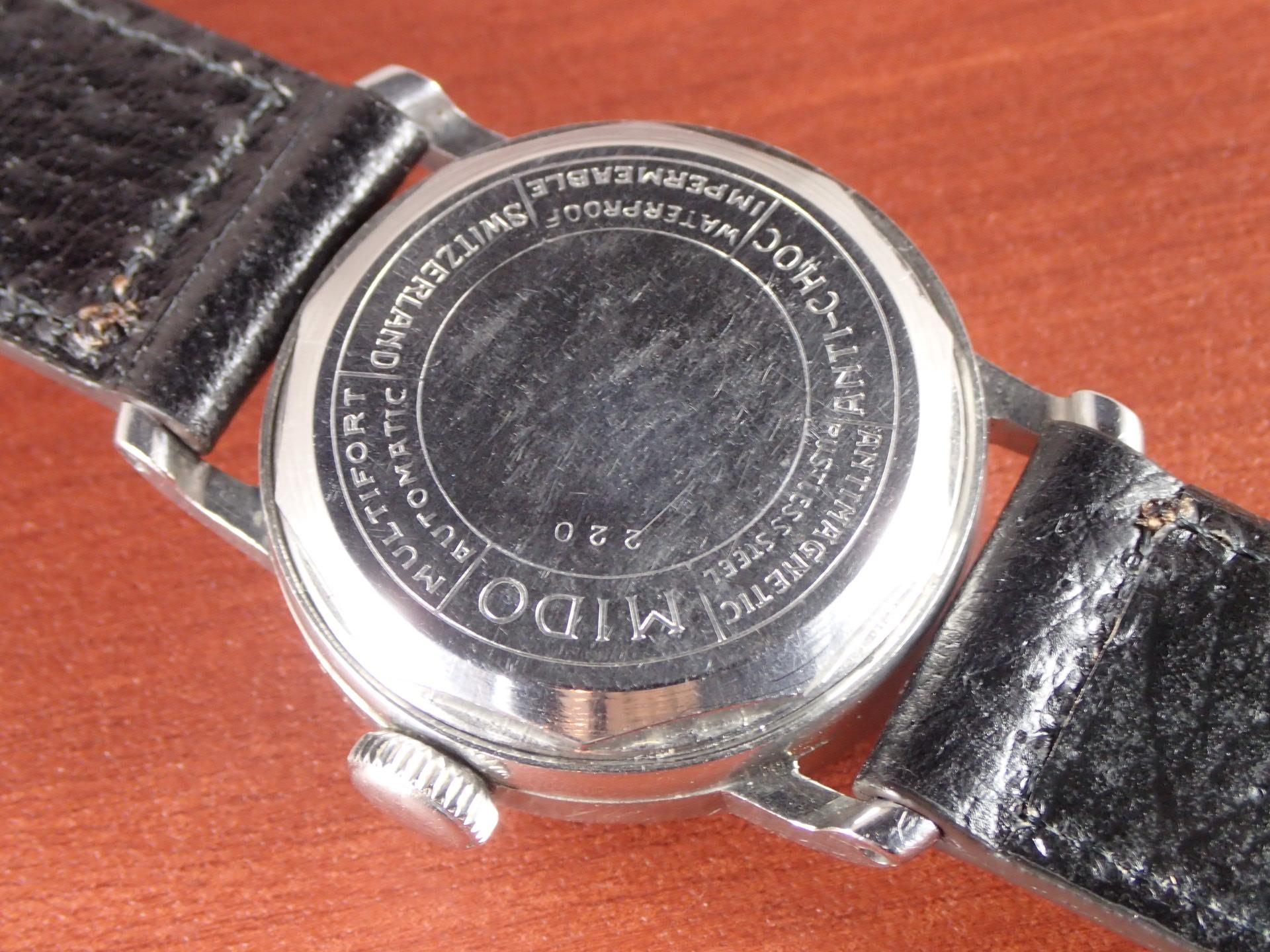 ミドー マルチフォート ブラックミラーダイアル ローマンインデックス 1940年代の写真4枚目