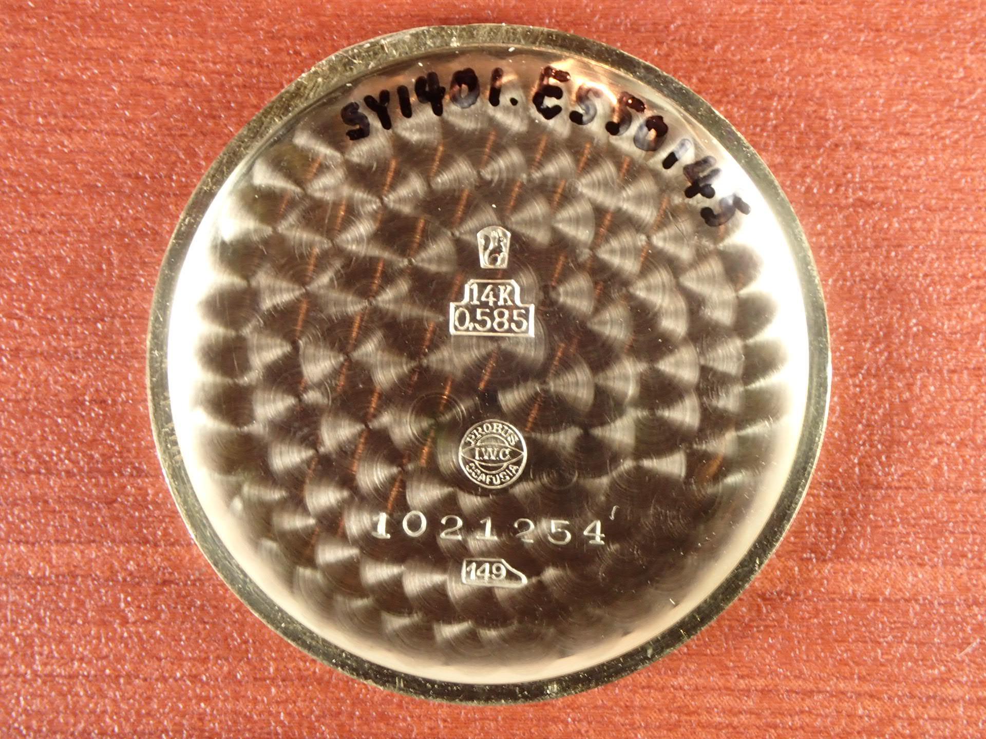 IWC インター 14KYG キャリバー83 ギャランティー付き 1940年代の写真6枚目