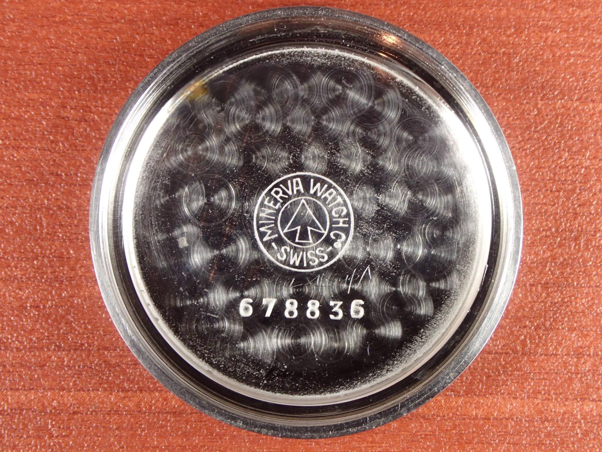 ミネルバ Cal.20CH クロノグラフ ブラックダイアル 1940年代の写真6枚目