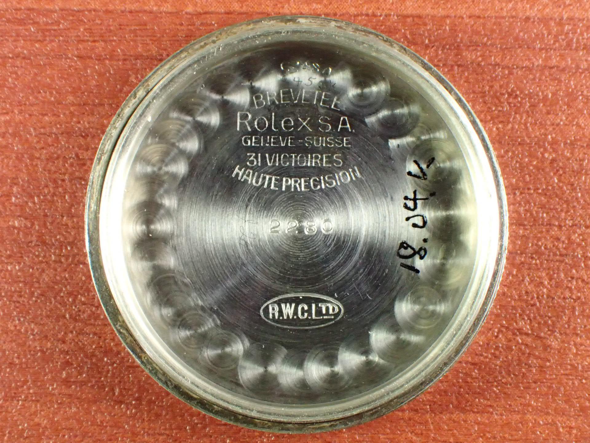 ロレックス オイスター ローヤライト 2トーンダイアル Ref.2280 1940年代の写真6枚目