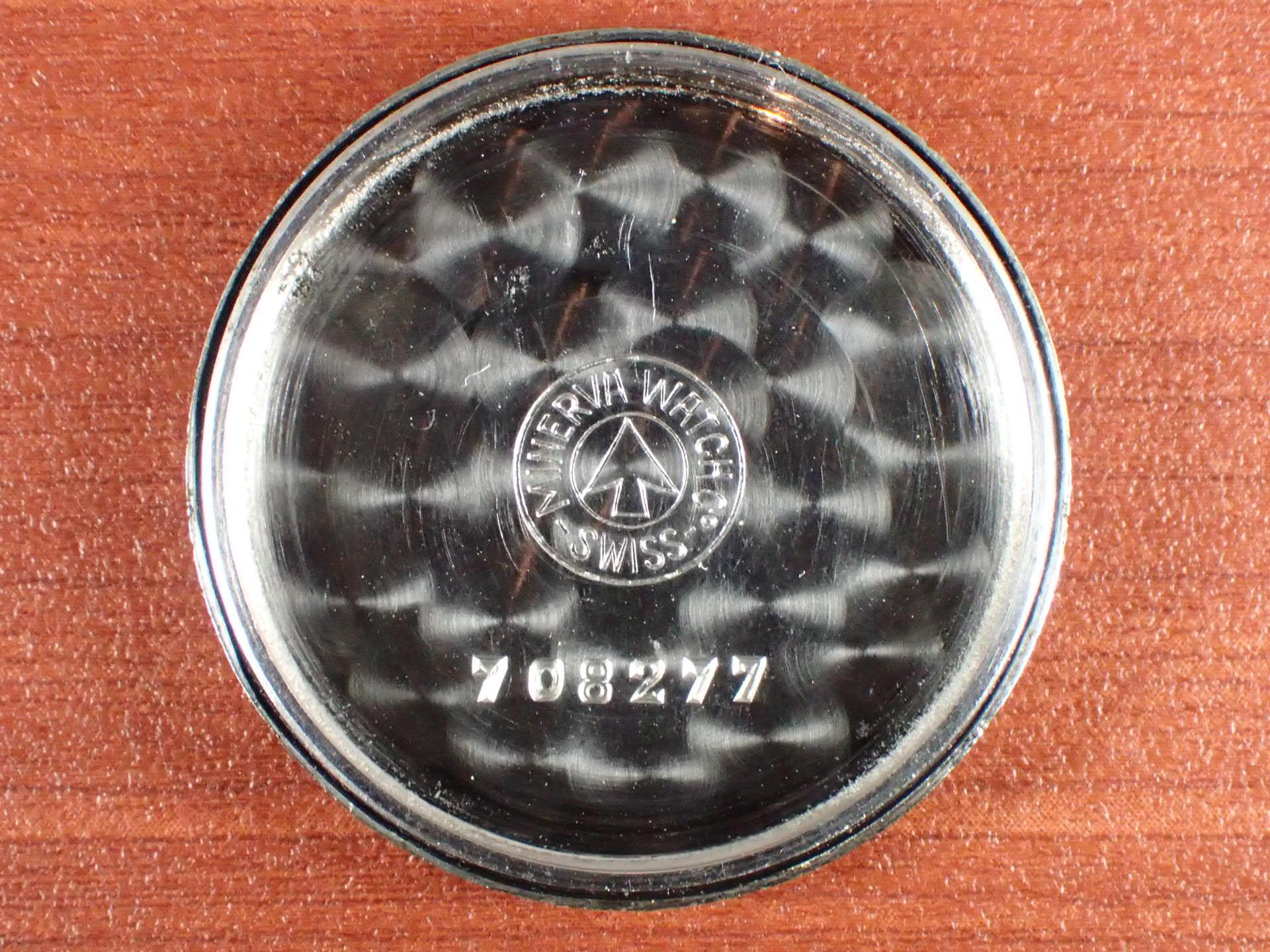ミネルバ キャリバー49 ブラックミラーダイアル スクリューバック 1950年代の写真6枚目
