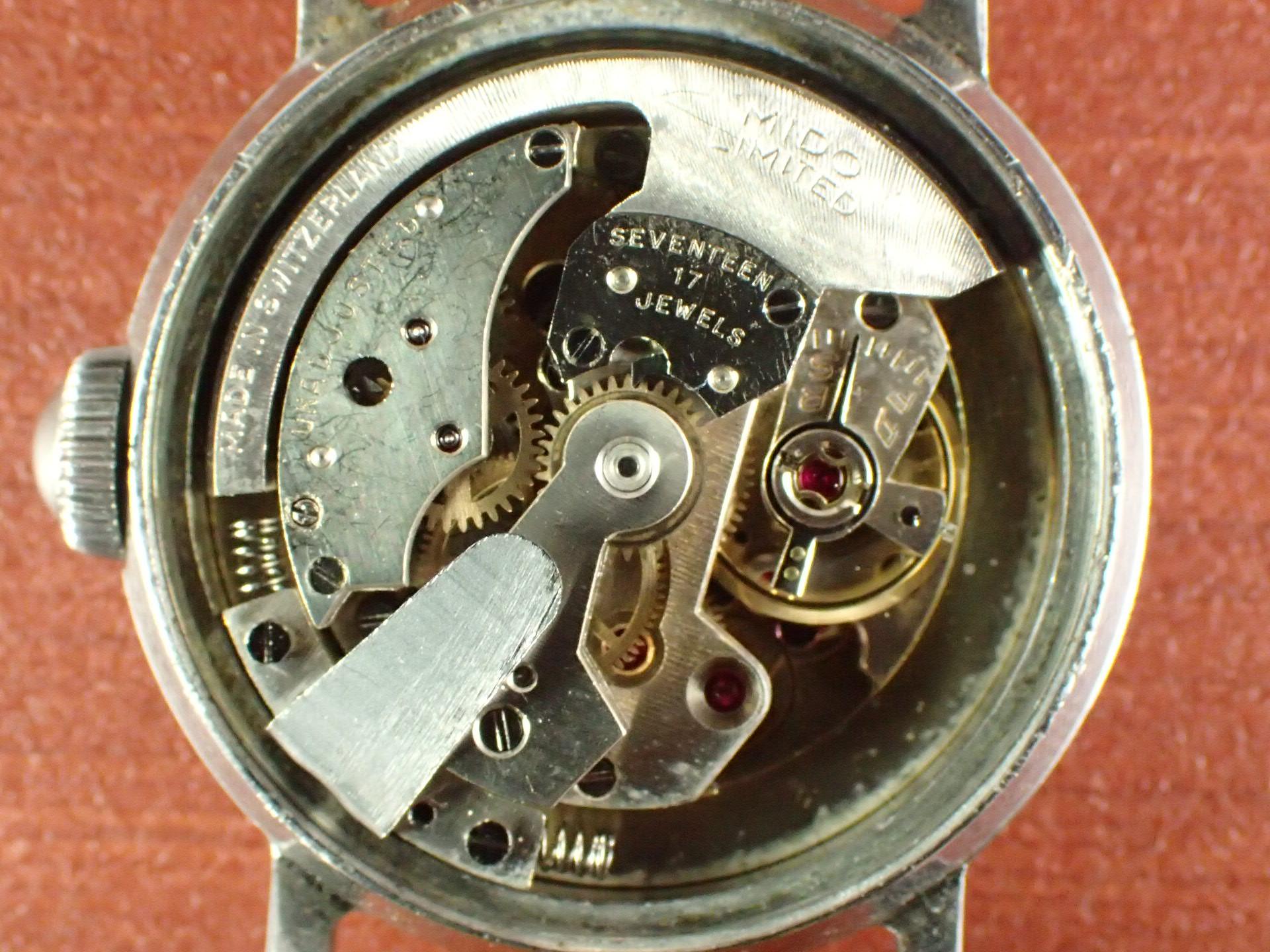 ミドー マルチフォート エクストラ 3トーンダイアル ローマンインデックス 1940年代の写真5枚目