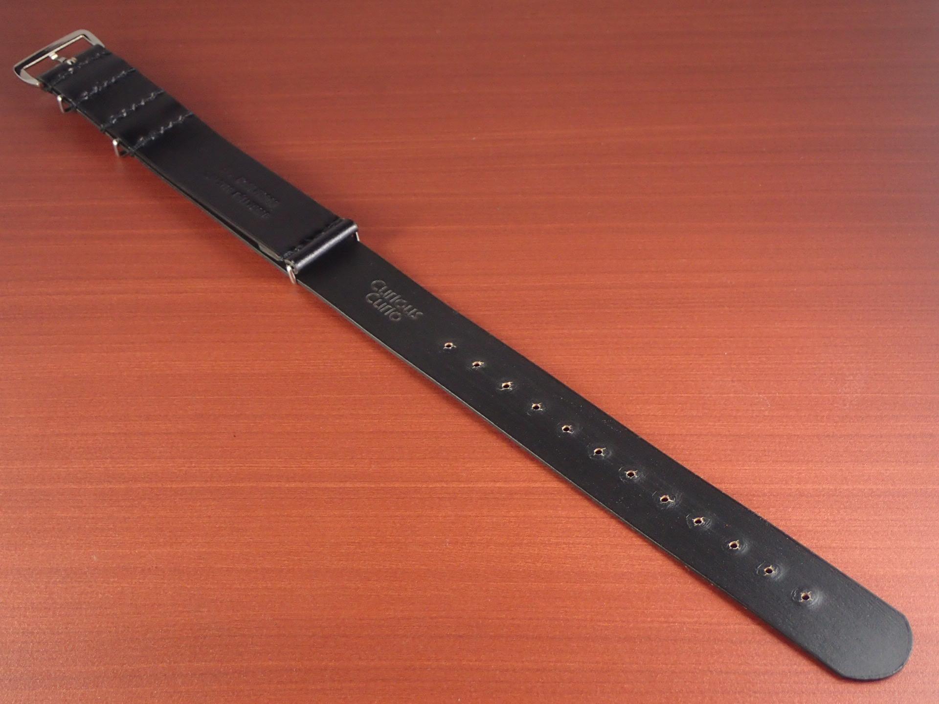 N.ハリウッド×キュリオスキュリオ コラボNATOコードバン革ベルト  ブラックの写真2枚目