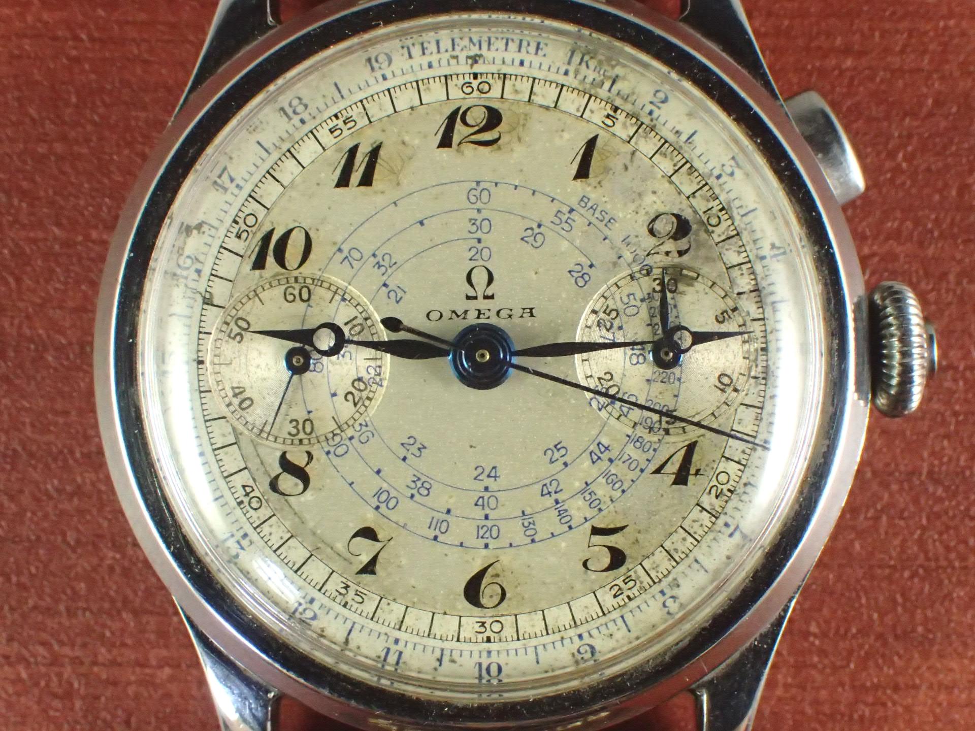 オメガ クロノグラフ キャリバー33.3CHRO ブレゲインデックス 1940年代の写真2枚目