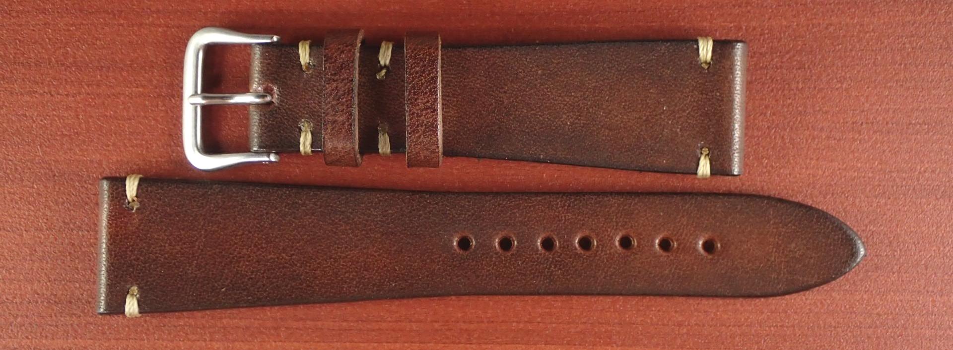 C × V 牛ヌメ革ベルト レギュラー ブラウン 18、20mm