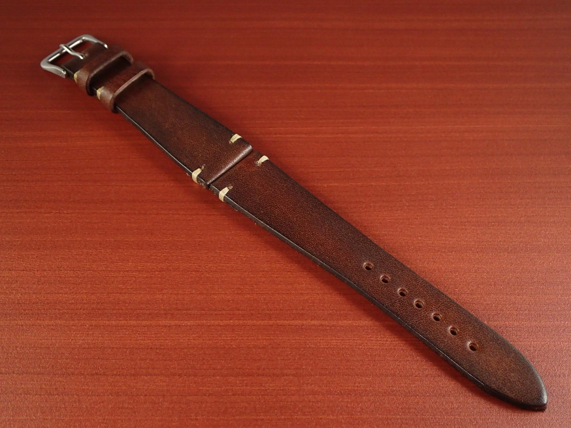 C × V 牛ヌメ革ベルト レギュラー ブラウン 18、20mmのメイン写真