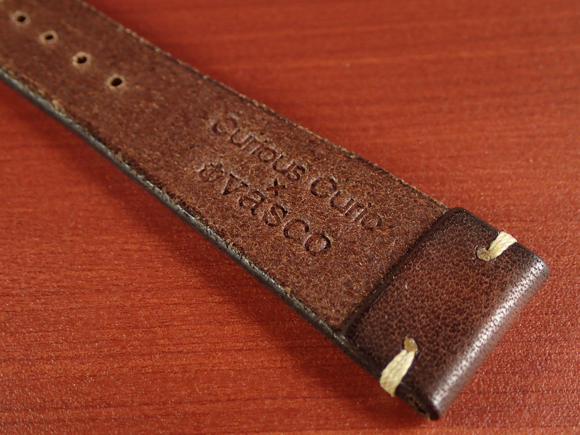 C × V 牛ヌメ革ベルト レギュラー ブラウン 18、20mmの写真6枚目