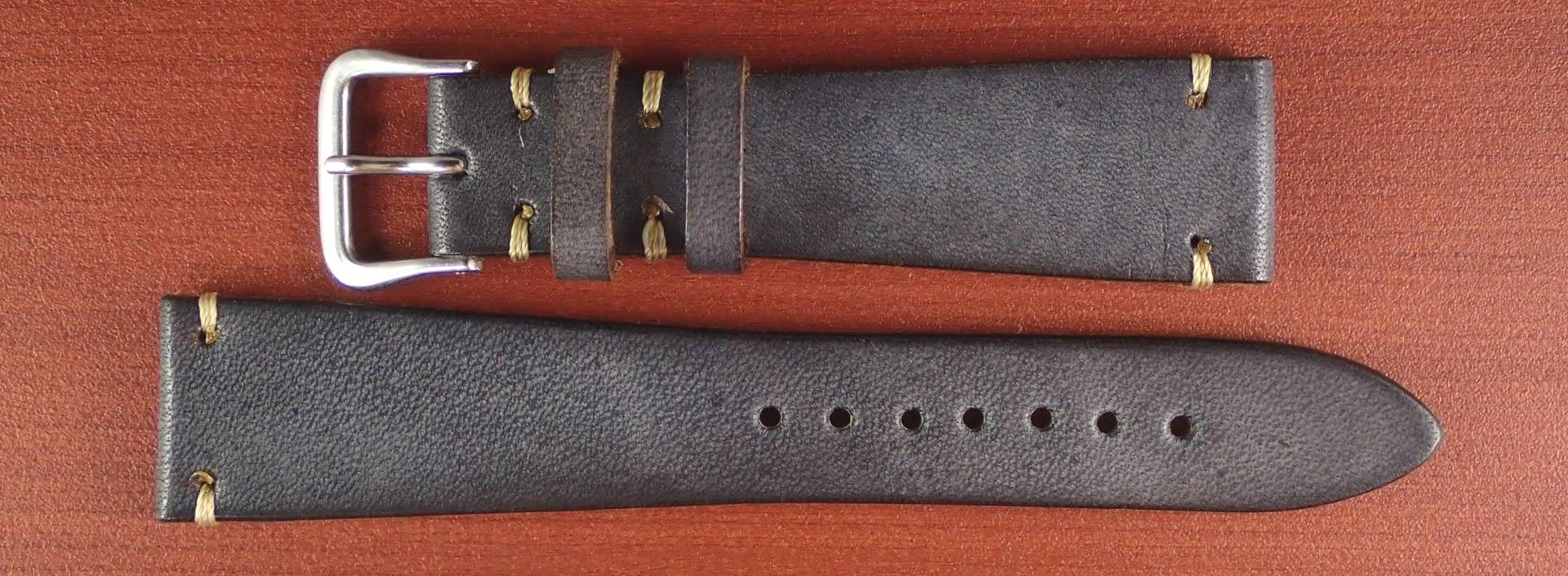 C × V 牛ヌメ革ベルト レギュラー グレー 18、20mm