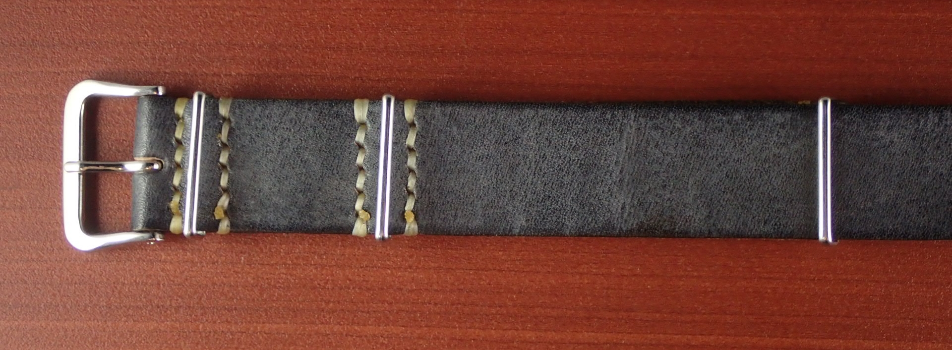C × V 牛ヌメ革ベルト NATO G10 グレー 18、20mm
