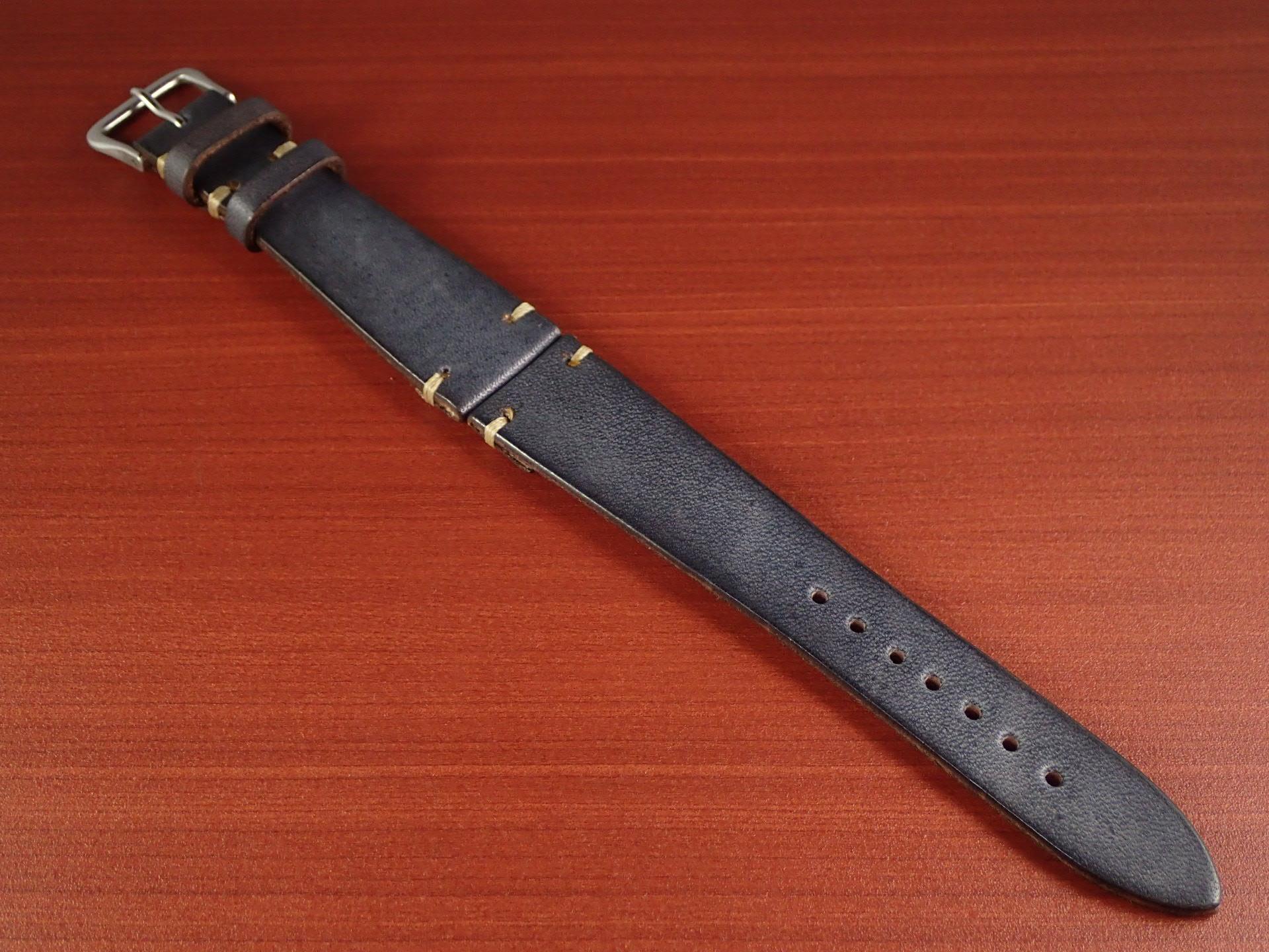 C × V 牛ヌメ革ベルト レギュラー グレー 18、20mmのメイン写真