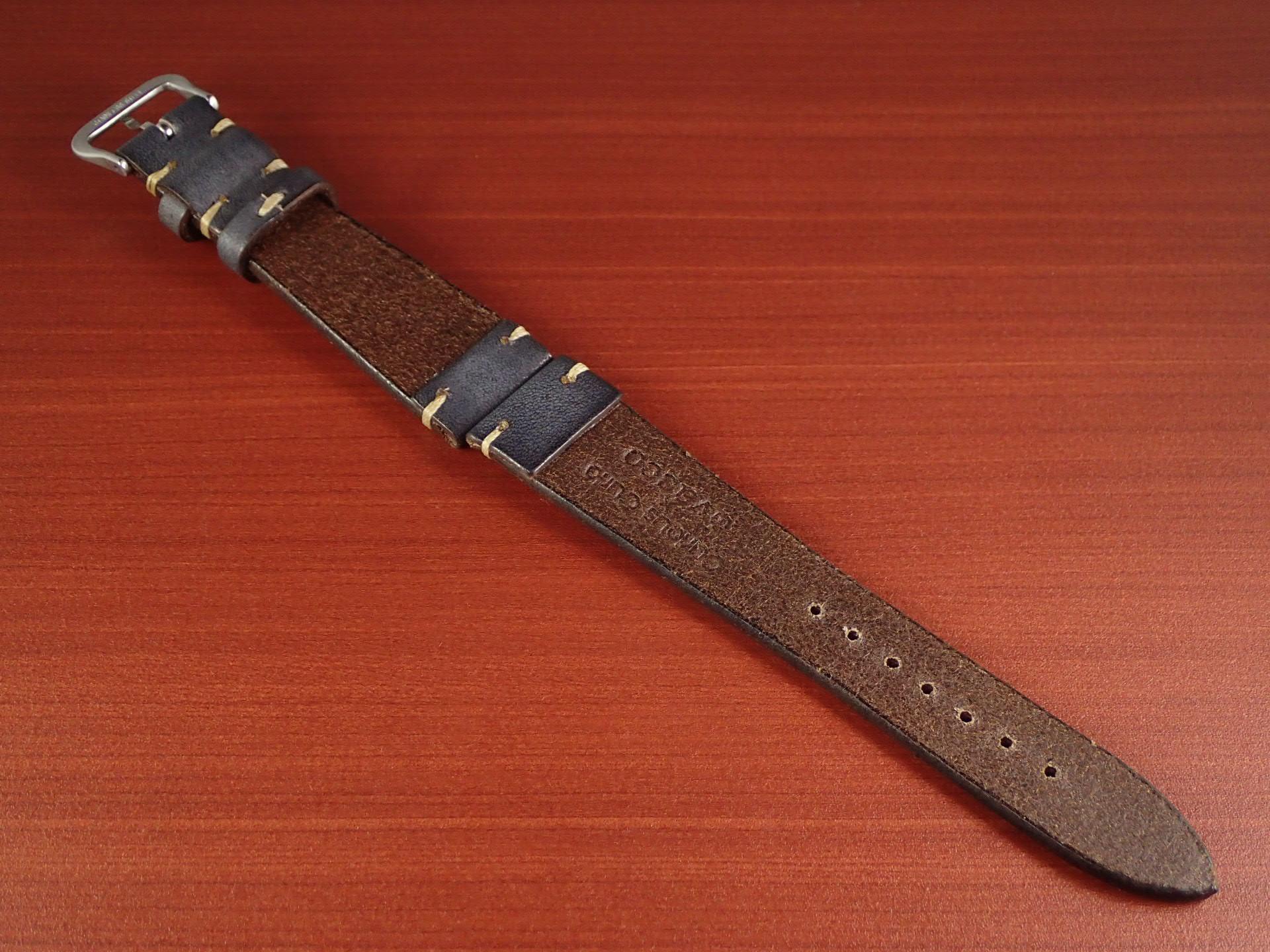 C × V 牛ヌメ革ベルト レギュラー グレー 18、20mmの写真2枚目