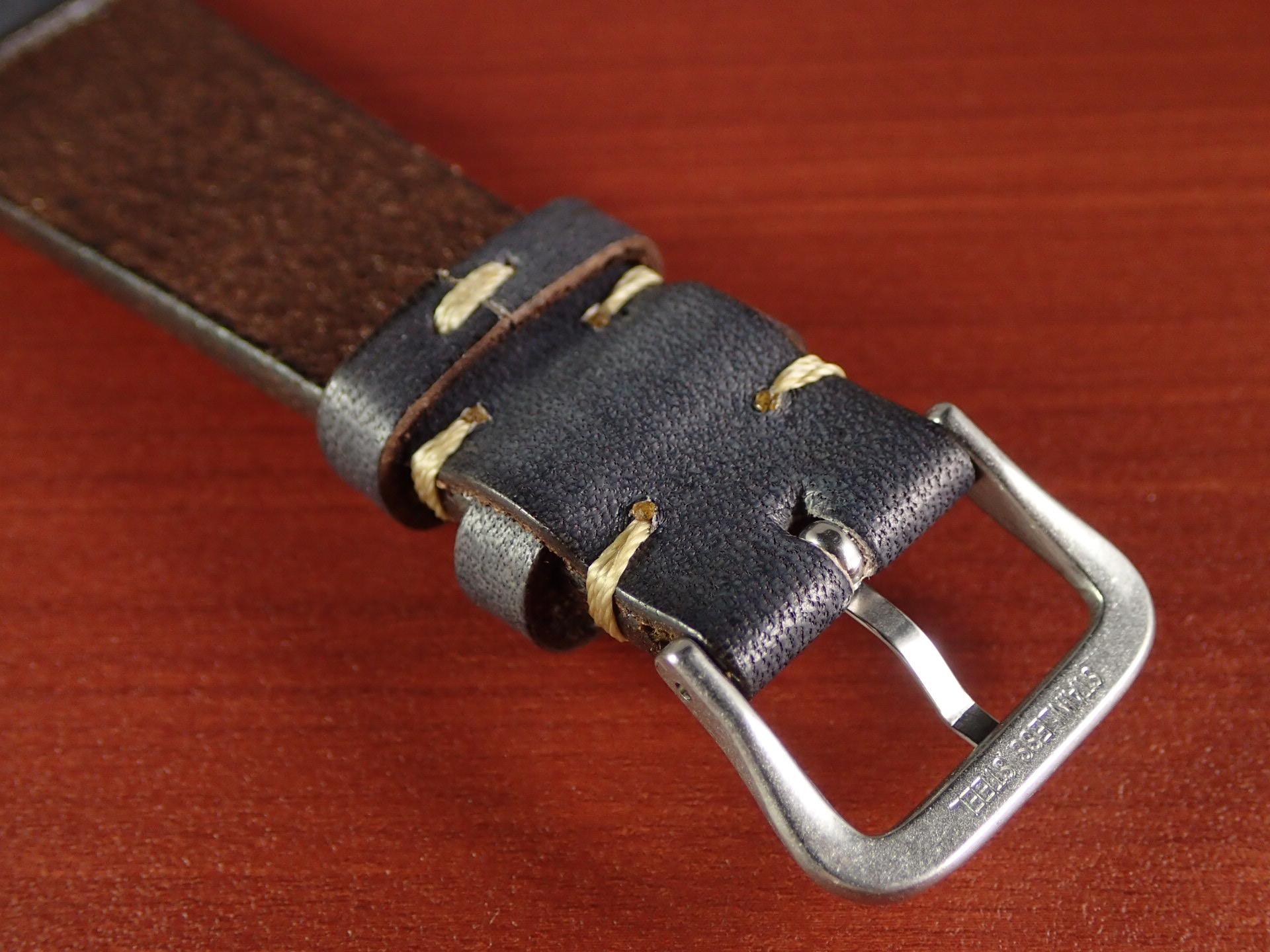 C × V 牛ヌメ革ベルト レギュラー グレー 18、20mmの写真4枚目
