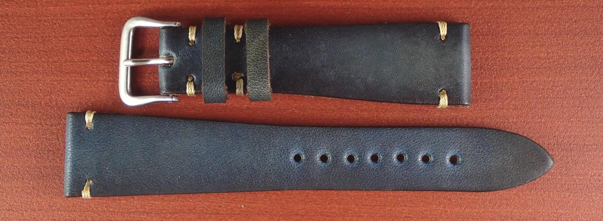 C × V 牛ヌメ革ベルト レギュラー インディゴ 18、20mm