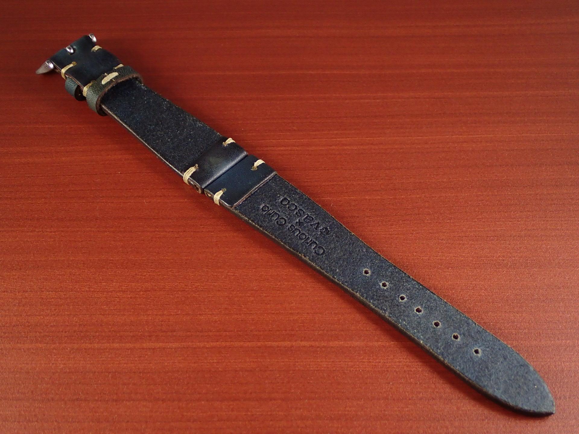 C × V 牛ヌメ革ベルト レギュラー インディゴ 18、20mmの写真2枚目