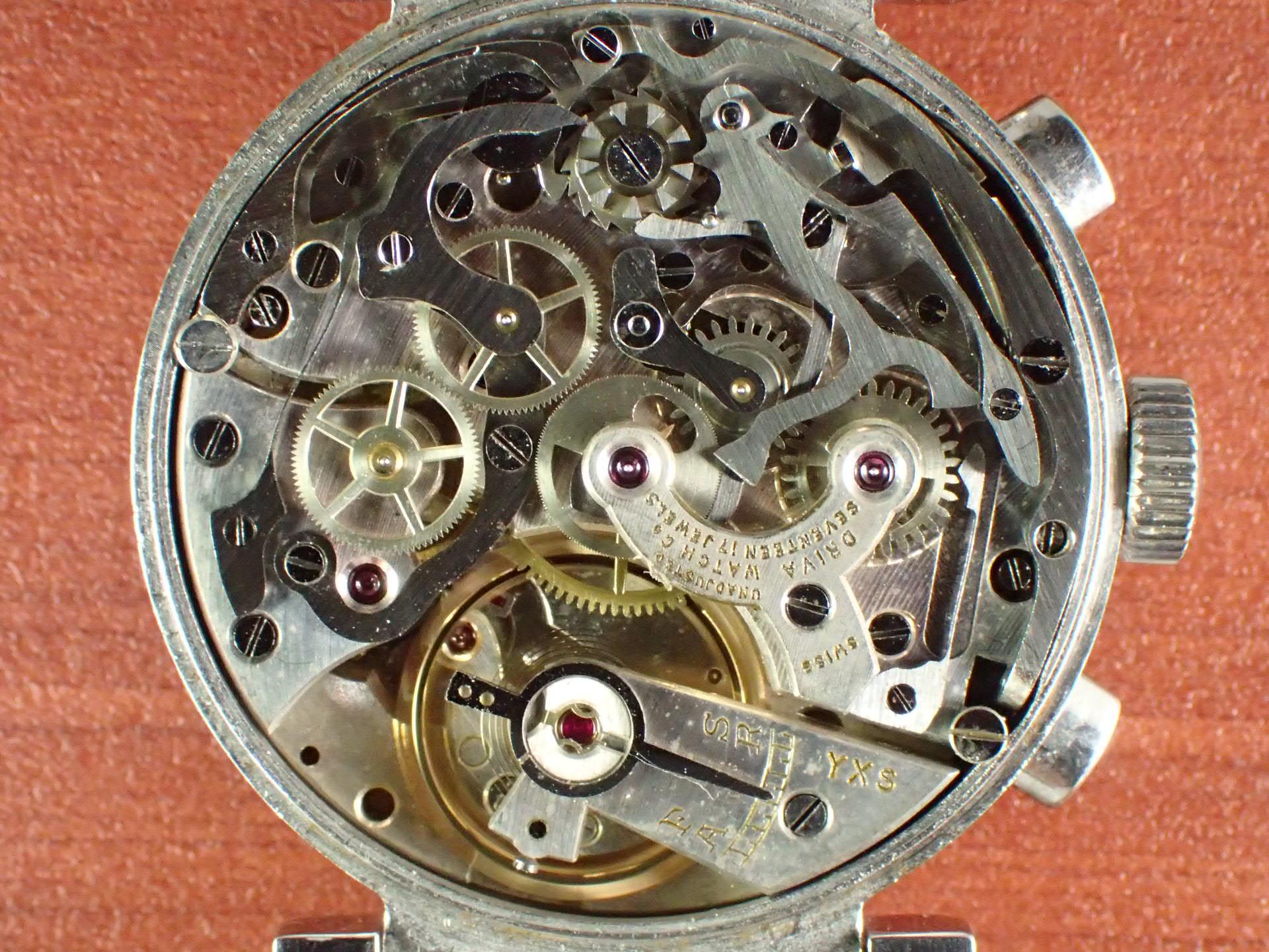 ドリバ クロノグラフ Cal.バルジュー22 フレキシブルラグ 1940年代の写真5枚目