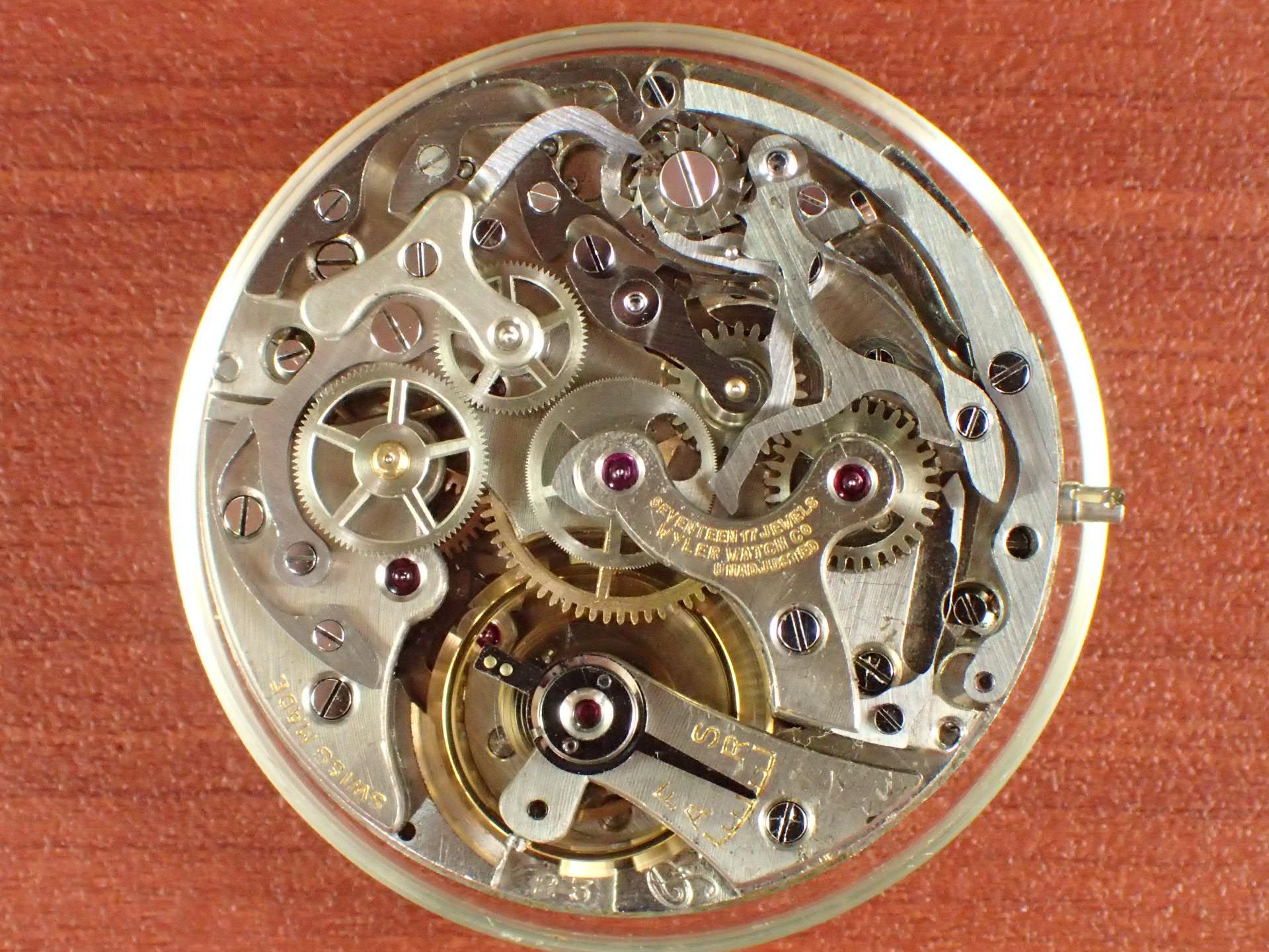 ワイラー クロノグラフ Cal.バルジュー23 インカフレックス 1940年代の写真5枚目