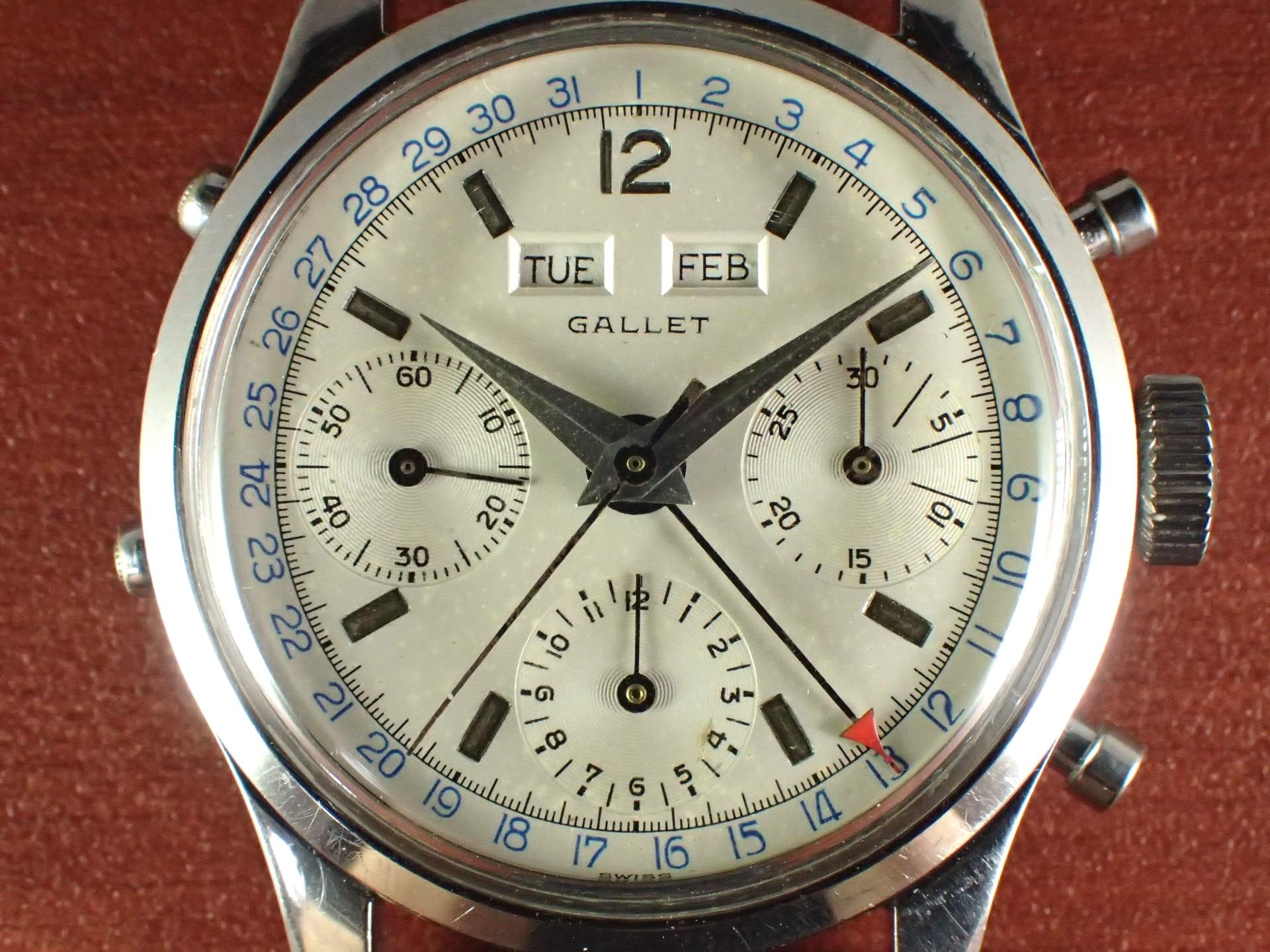 ギャレット マルチクロン トリプルカレンダー Cal.Valjoux72C 1950年代の写真2枚目