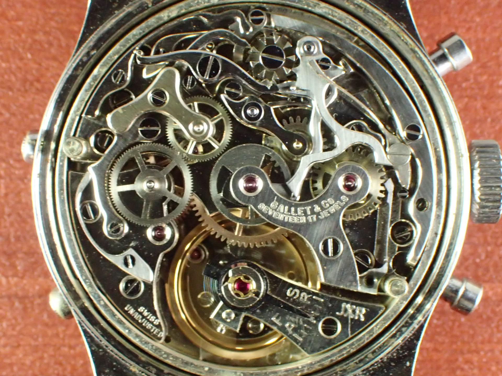 ギャレット マルチクロン トリプルカレンダー Cal.Valjoux72C 1950年代の写真5枚目