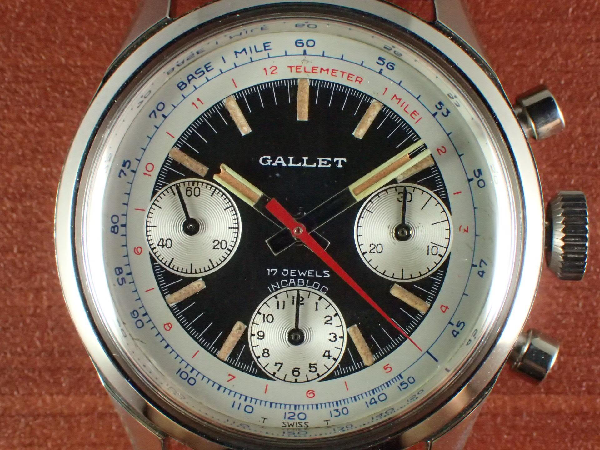 ギャレット クロノグラフ Cal.バルジュー7736 1970年代の写真2枚目