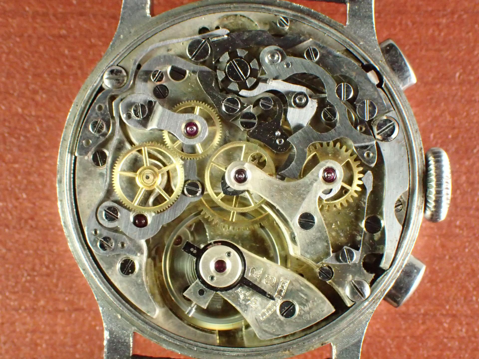 ノーネーム クロノグラフ ブレゲインデックス Cal.ランデロン13 1930年代の写真5枚目