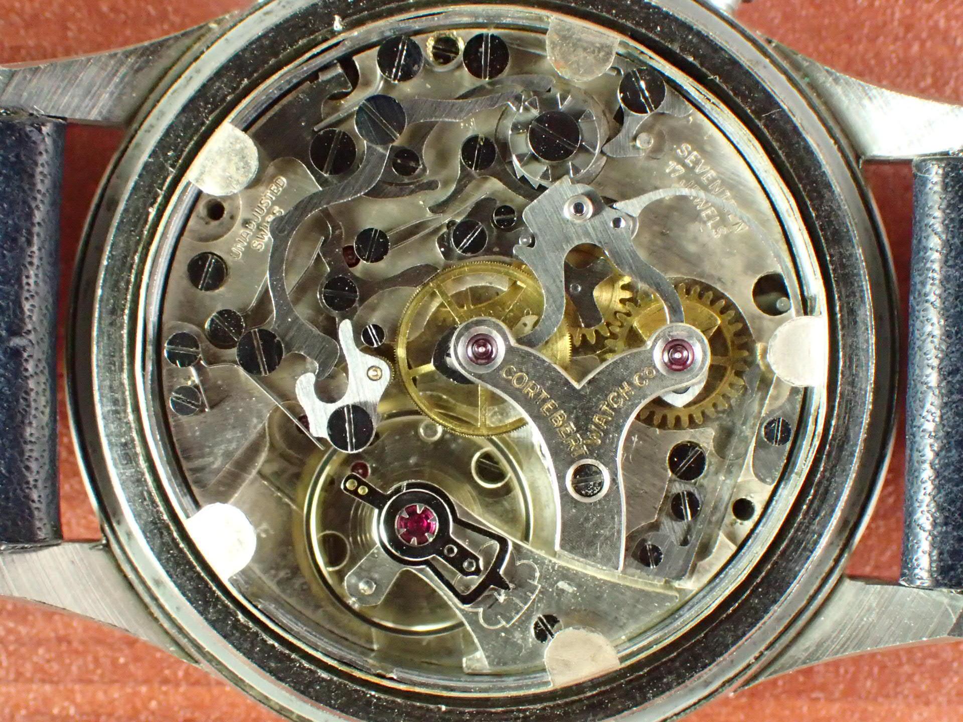 コルトベルト クロノグラフ Cal.Venus170 コパーダイアル 1940年代の写真5枚目