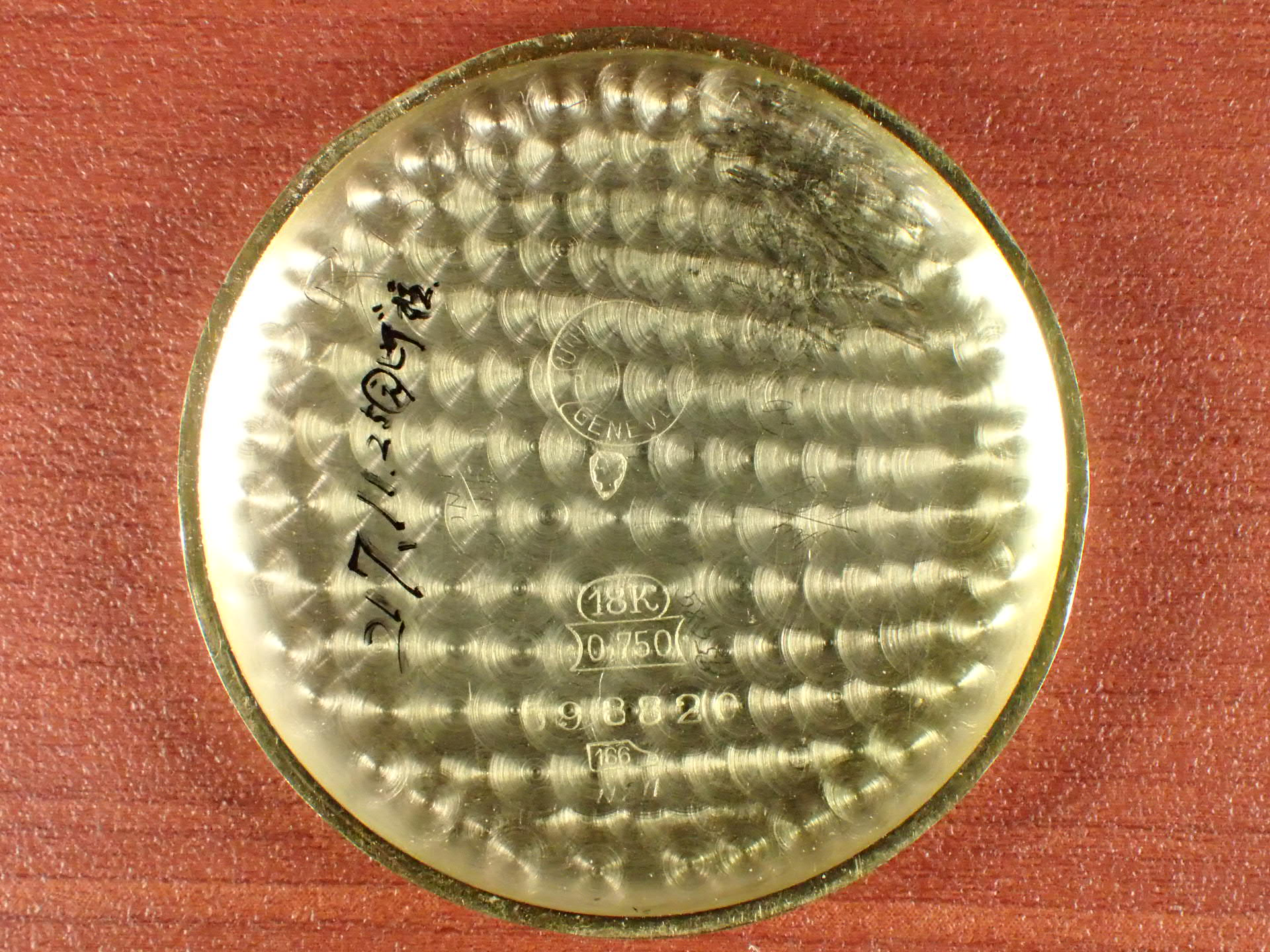 ユニバーサル 18KYG クロノグラフ Cal.287 ブラックダイアル 1930年代の写真6枚目