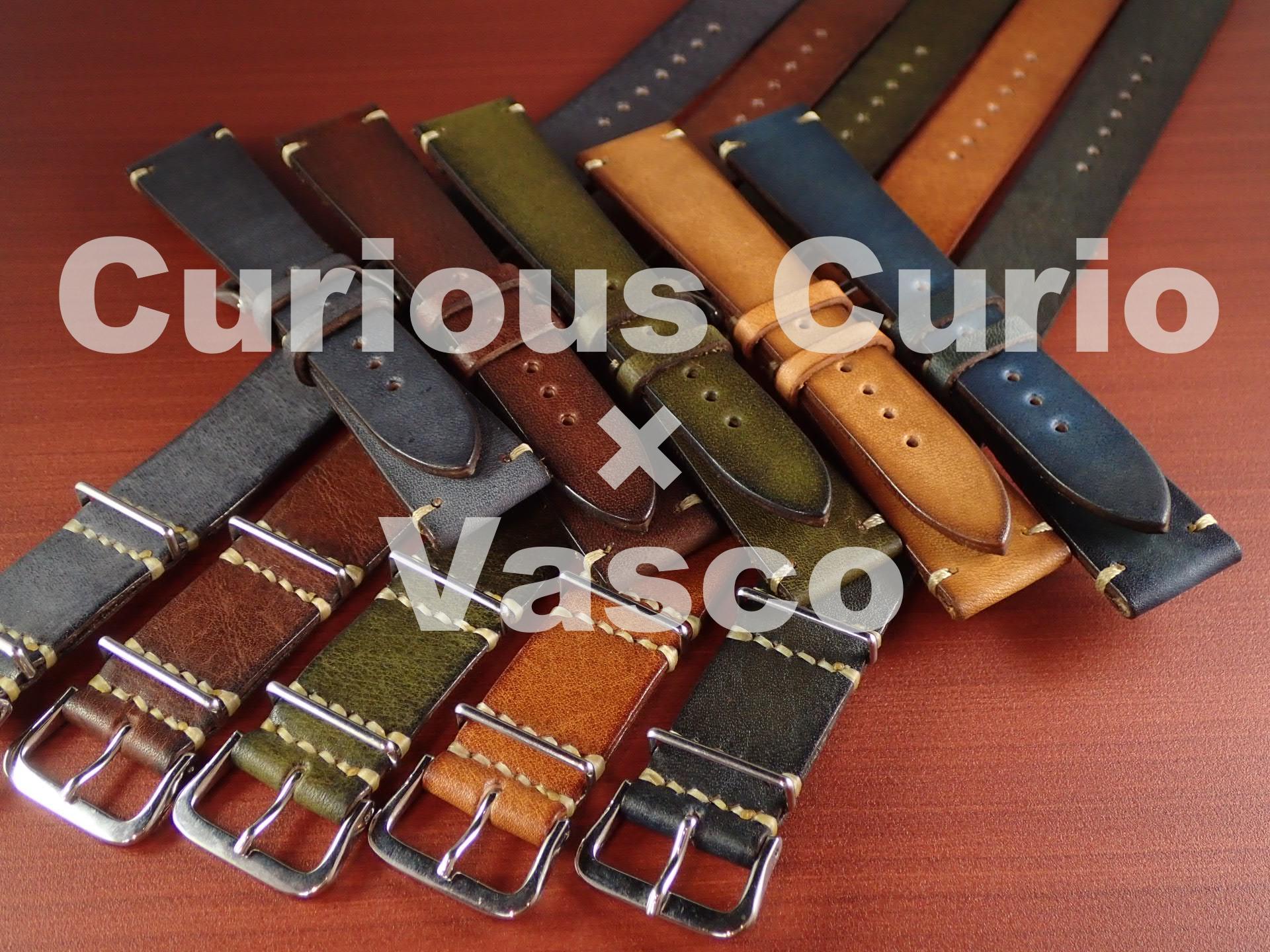 新色追加!Curious Curio × Vasco  コラボ革ベルト